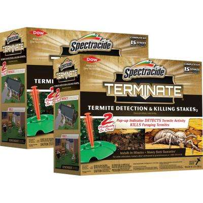 Termite Detection and Killing Stakes Bundle (2-Pack)