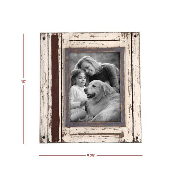 Foreside Home Garden White And Brown 5 In X 7 In Decorative Distressed Wood Picture Frame Ffrd06211 The Home Depot
