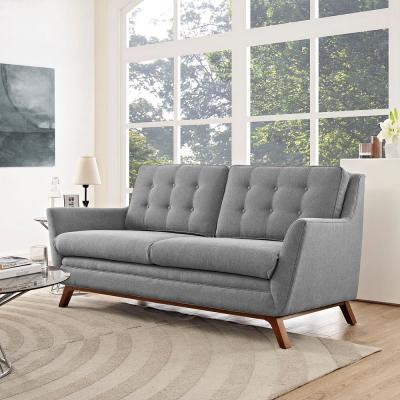 Beguile Expectation Gray Upholstered Fabric Loveseat