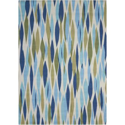 Bits and Pieces Seaglass 8 ft. x 11 ft. Area Rug