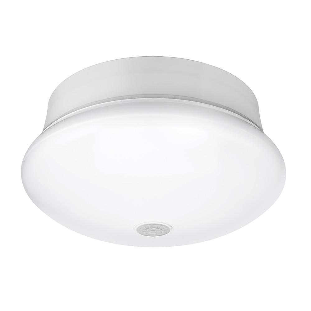 Commercial Electric 7 in. White Integrated LED Bright/Coo...