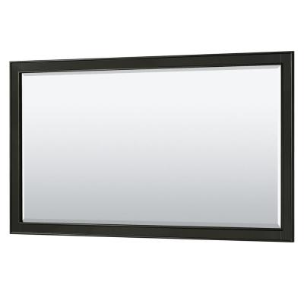 Deborah 58 in. W x 33 in. H Framed Wall Mirror in Dark Espresso