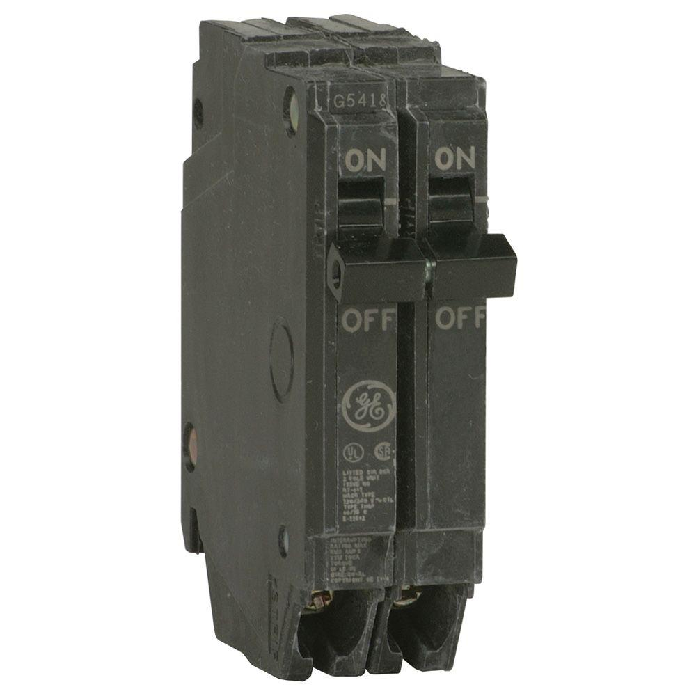 Ge Q Line 50 Amp 1 In Double Pole Circuit Breaker Thqp250 The Home Depot