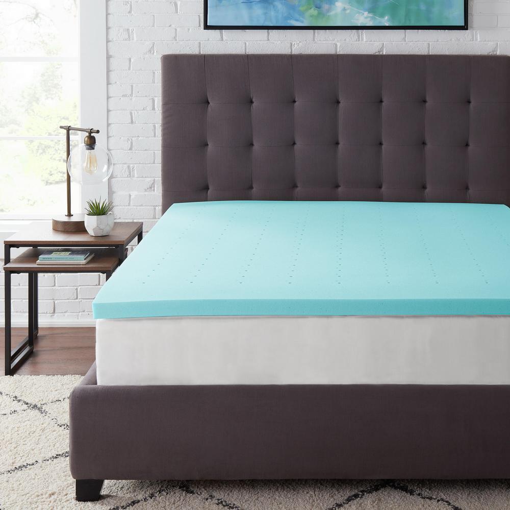 StyleWell 2 in. Gel Infused Memory Foam Twin XL Mattress Topper, Blue was $64.87 now $38.92 (40.0% off)