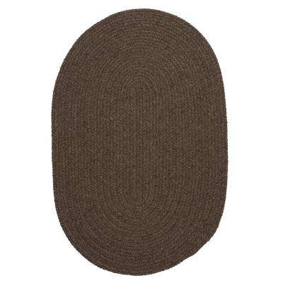 Edward Dark Brown 3 ft. x 5 ft. Braided Area Rug