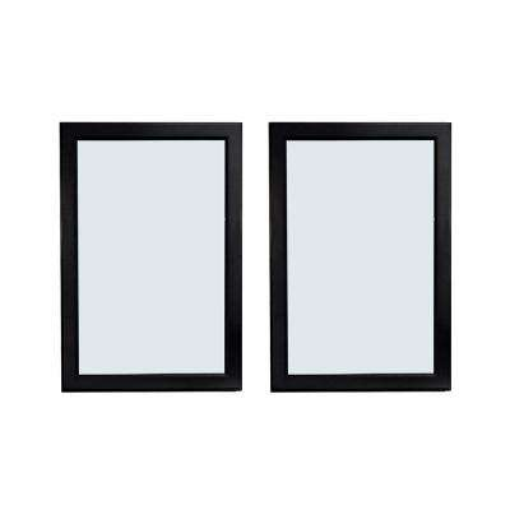 24 in. W x 36 in. H Framed Wall Mirror Bathroom Mirror in Expresso (Set of 2)