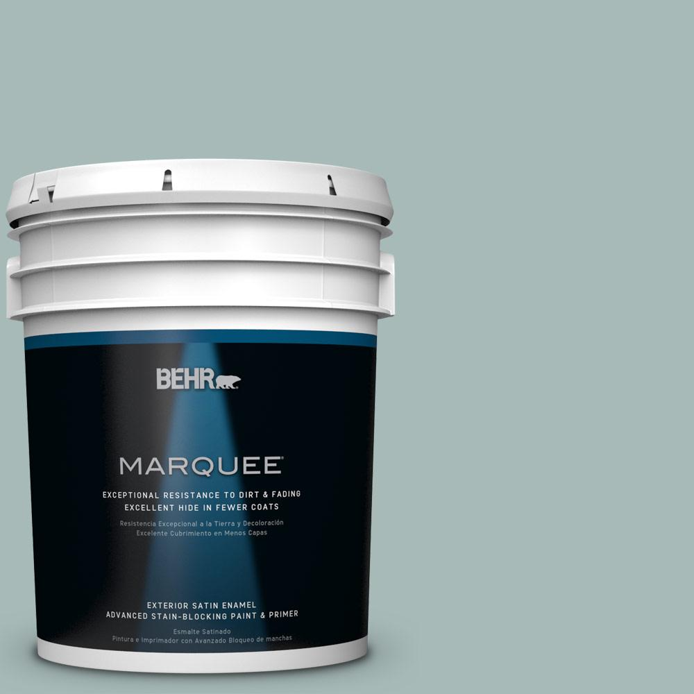 BEHR MARQUEE 5-gal. #QE-43 Water Surface Satin Enamel Exterior Paint