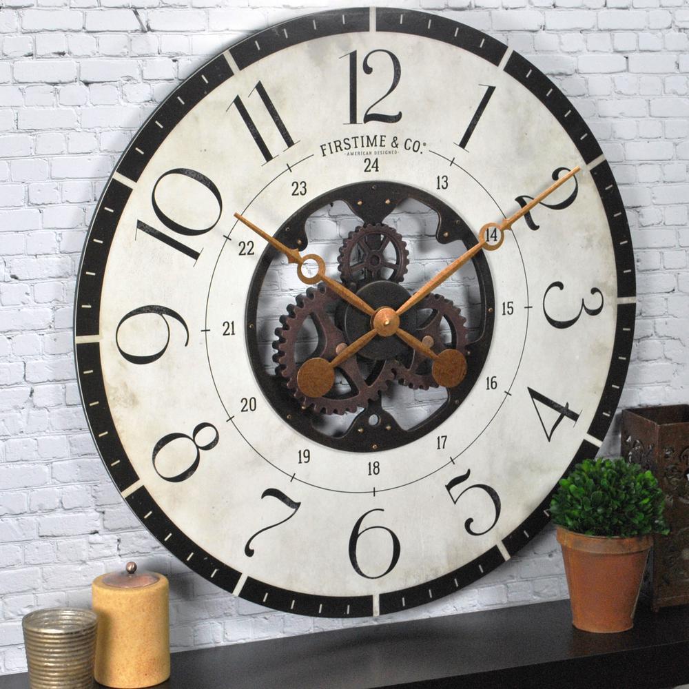 27 in. Multi-Color Oversized Carlisle Gears Wall Clock