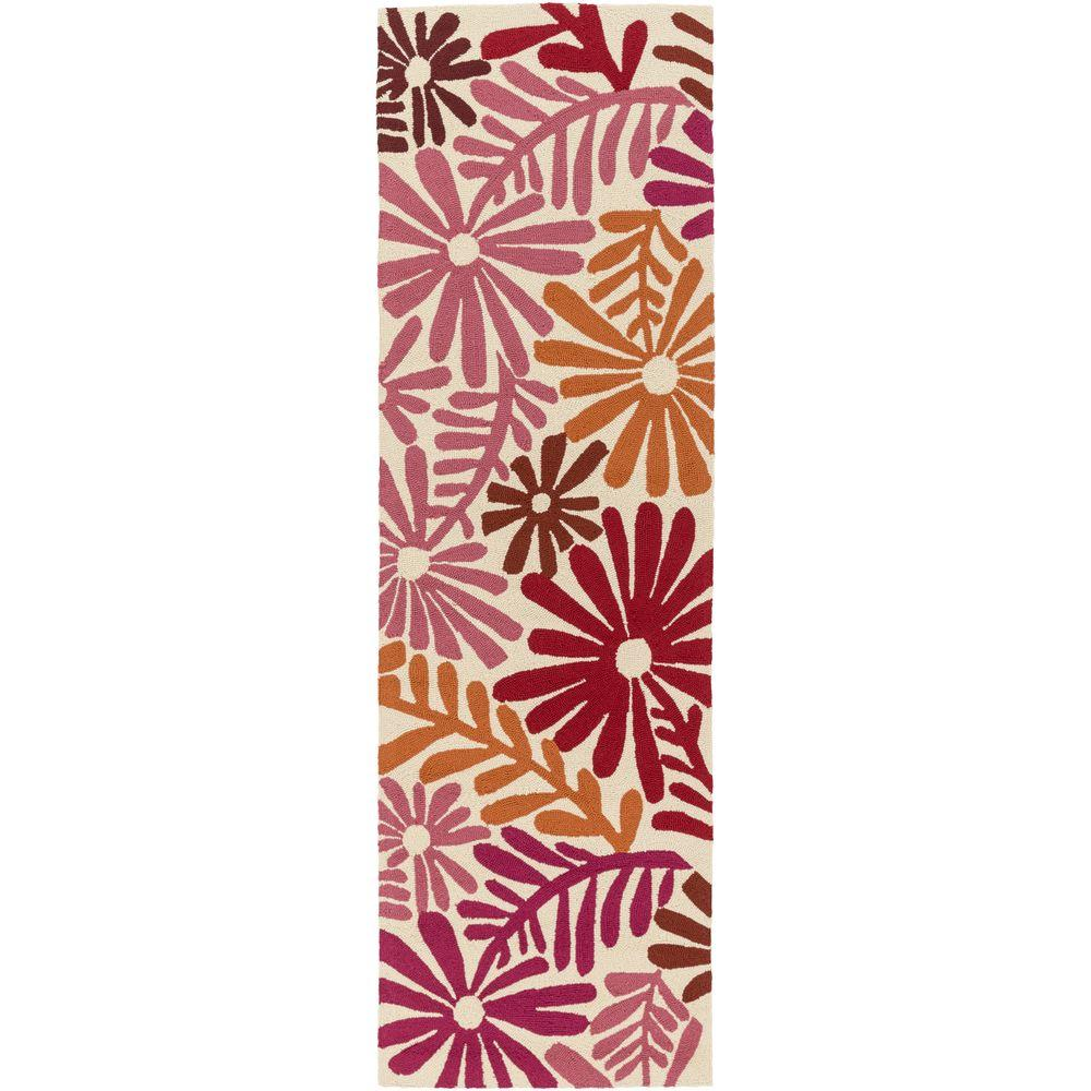 Artistic Weavers Bully Choop Hot Pink 3 ft. x 8 ft. Indoo...