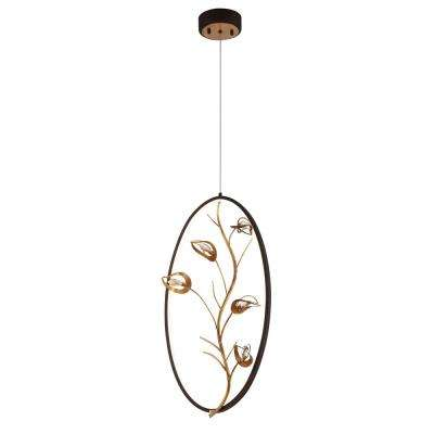 Peralta Collection 30-Watt Bronze Integrated LED Pendant
