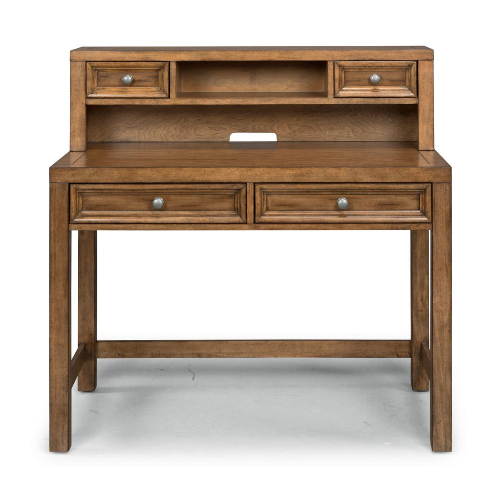 Sedona Brown Student Desk And Hutch