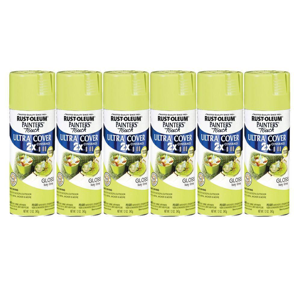 Painter's Touch 12 oz. Gloss Key Lime Spray Paint (6-Pack)-DISCONTINUED