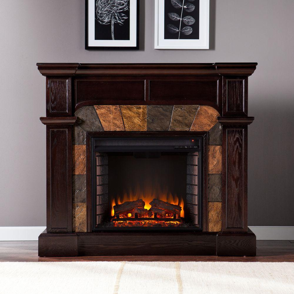 Southern Enterprises Avery 45.5 in. Convertible Electric Fireplace in Classic Espresso