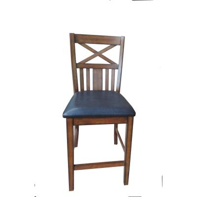 Brown Solid Wood Counter Height Chair (Set of 2)