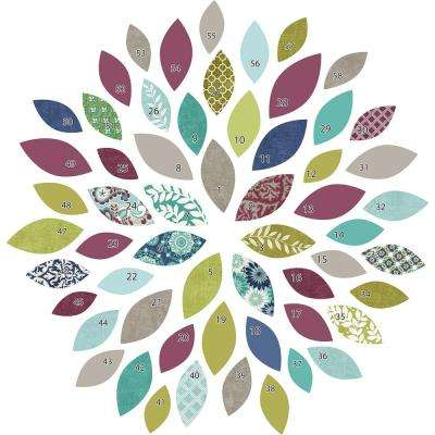 39 in. x 34.5 in. Starburst Wall Decal