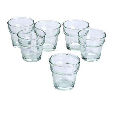 Clear Glass Flower Pot Votive Candle Holders (Set of 36)