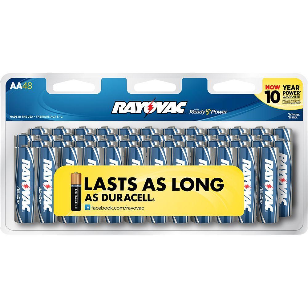 Rayovac Alkaline 1.5-Volt AA Size Battery (48 per Pack)
