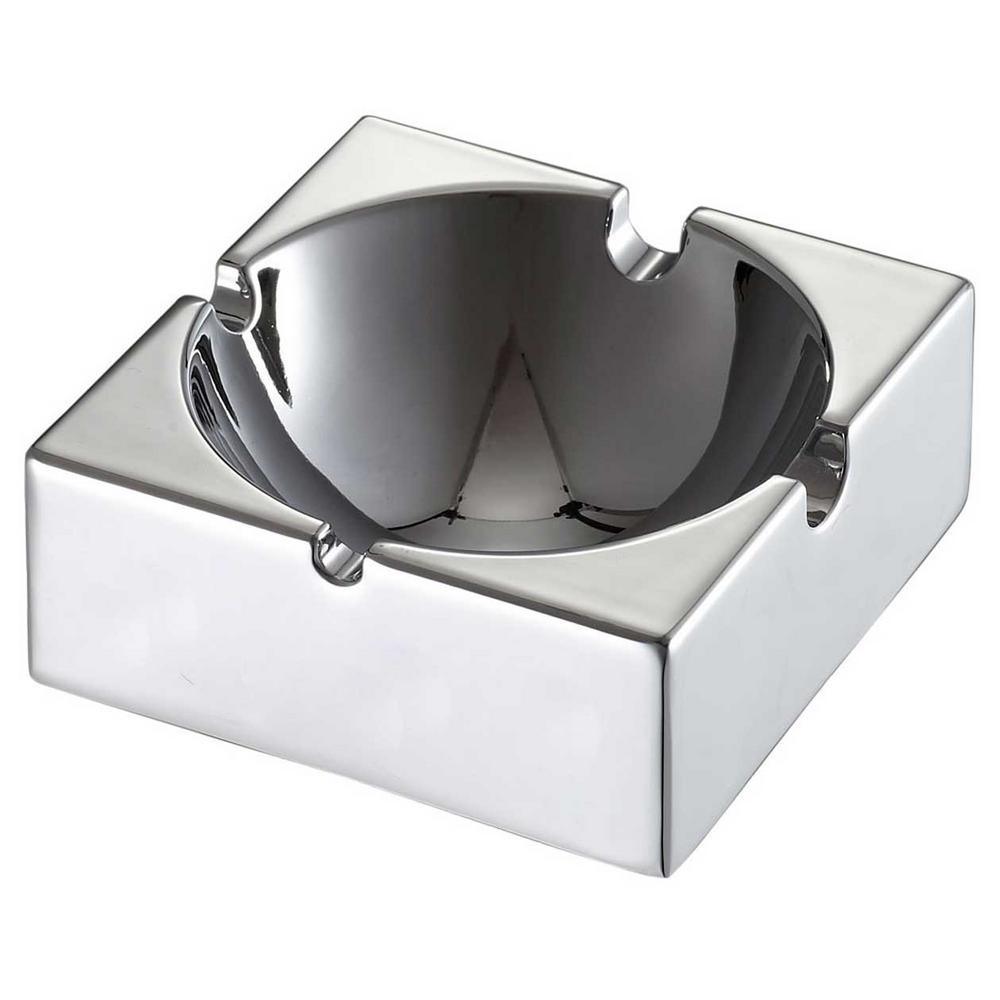 Appeal Square Stainless Steel Cigarette Ashtray