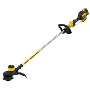 Dewalt 13 inch 20-Volt MAX Lithium-Ion Cordless Brushless Dual Line String Grass Trimmer with 5.0Ah Battery and Charger... by DEWALT