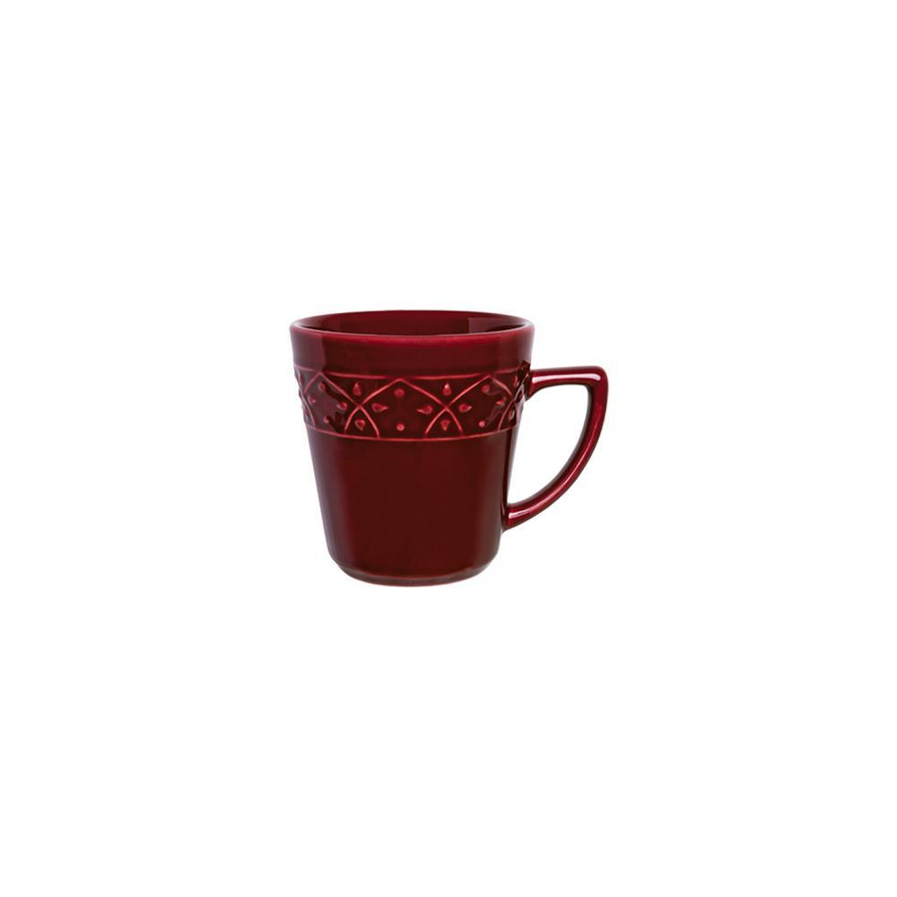 Manhattan Comfort Mendi 12.17 oz. Maroon Red Earthenware Mugs (Set of 6) was $69.99 now $37.7 (46.0% off)