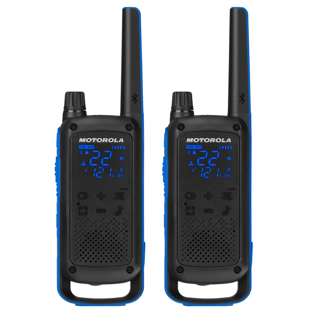 Talkabout T800 Rechargeable 2-Way Radios (2-Pack) The Talkabout T800 2-Way Radio allows you to track and share locations with all your travel companions. No cell service, no problem. The secret is once your phone-radio system is connected over Bluetooth, the Talkabout smartphone app enables communication options beyond push-to-talk. The Talkabout app uses the T800 as a modem to send messages, locations, and more over radio frequencies to your fellow T800 users. With better communication and more information, you are connected like never before allowing for maximum connectivity and activity off the cellular grid.