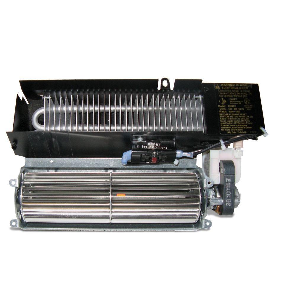 Register 2,000-Watt 240/208-Volt Fan-Forced Wall Heater Assembly Only