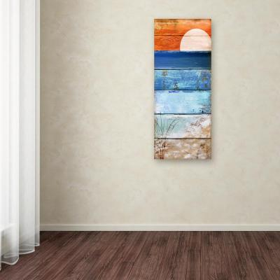 """32 in. x 14 in. """"Beach Moonrise II"""" by Color Bakery Printed Canvas Wall Art"""