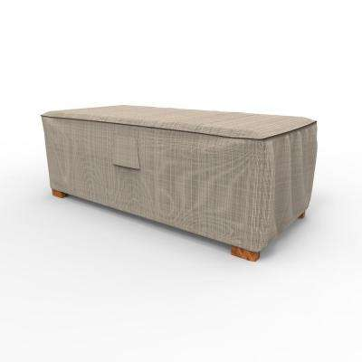 English Garden Large Slim Patio Ottoman / Coffee Table Covers