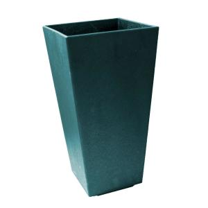 Sonata 14 in. x 28 in. Teal Rubber Self-Watering Planter