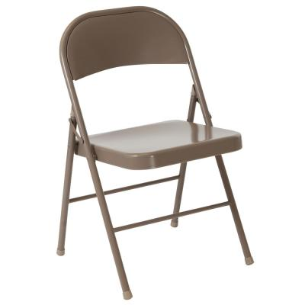 Beige Metal Outdoor Safe Folding Chair