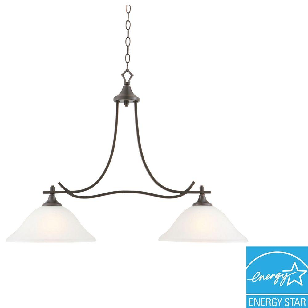 Design House Juneau 2-Light Oil Rubbed Bronze Island Light Fixture