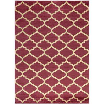 Red Trellis Area Rugs The Home Depot