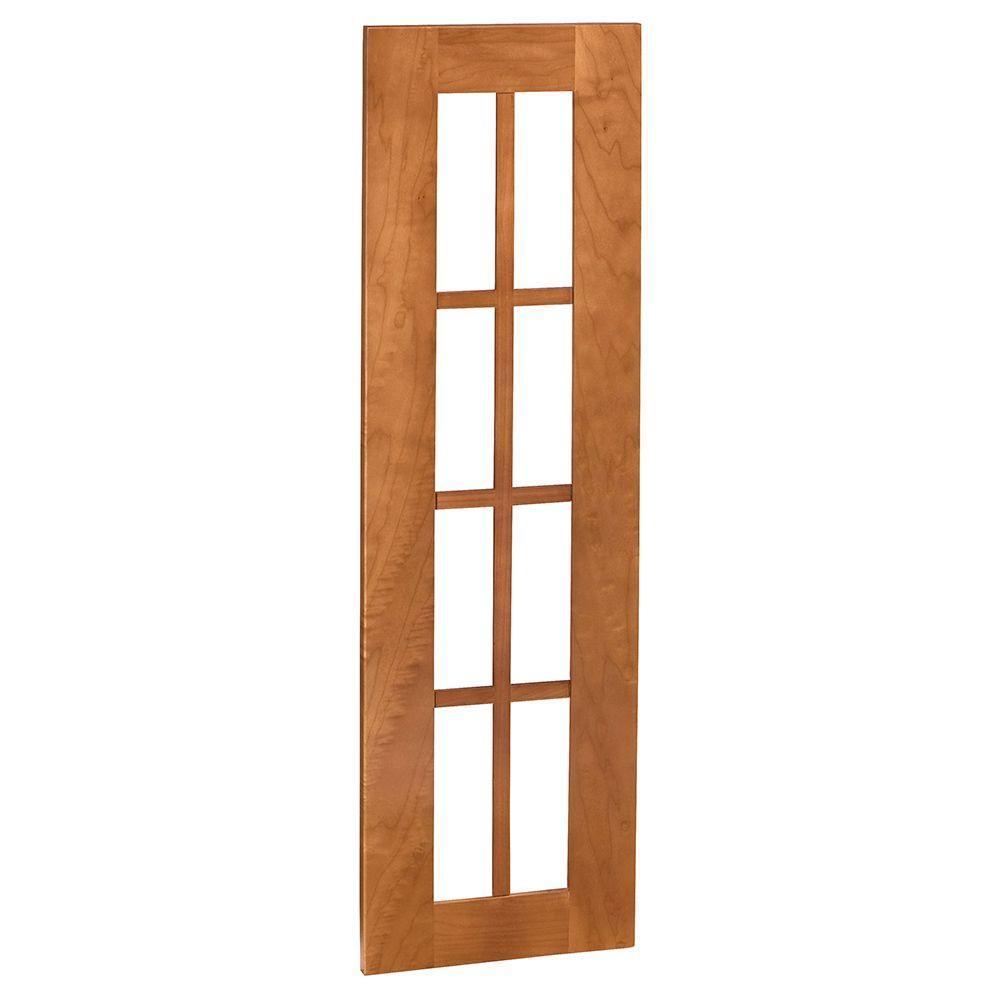 Hargrove Assembled 15x42x0.75 in. Mullion Door in Cinnamon