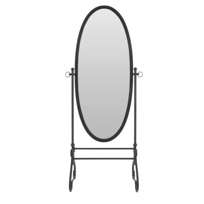 StyleWell Black Standing Oval Mirror with Tilt (26.26 in W. X 66.93 in H.)