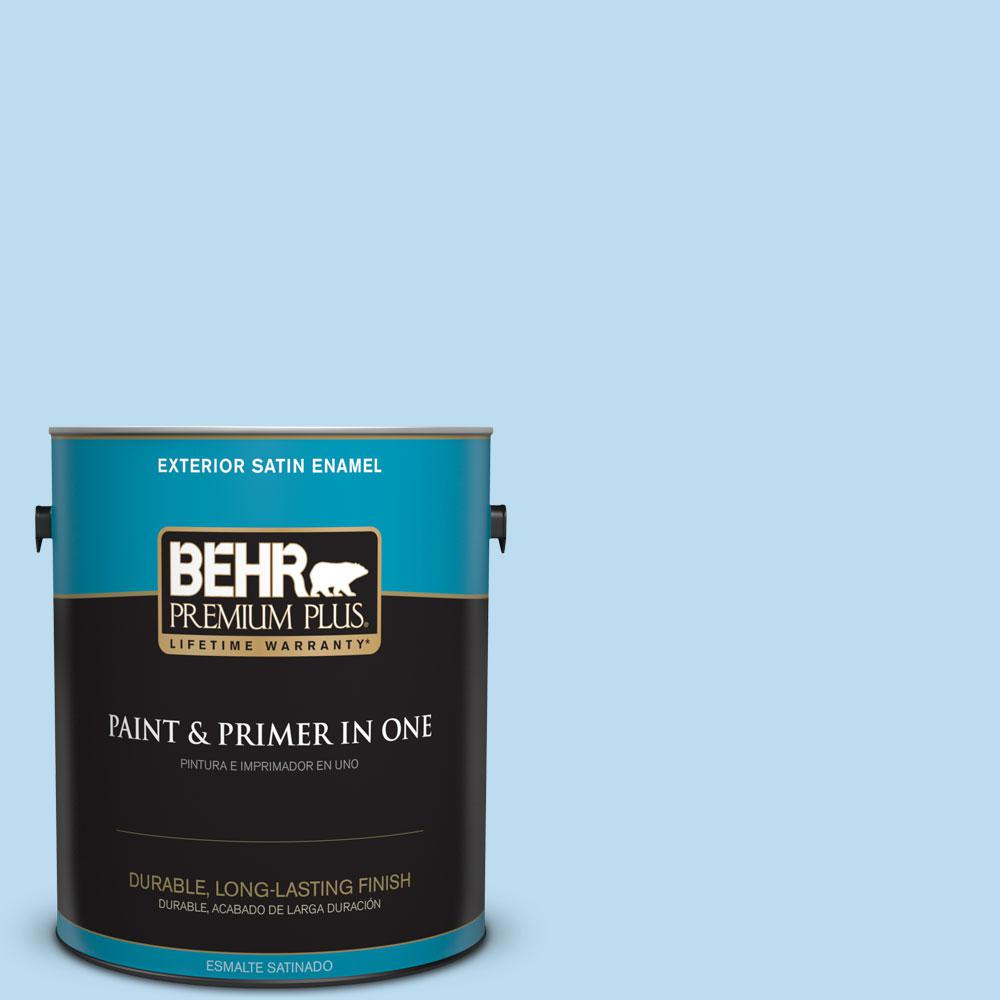 BEHR Premium Plus 1-gal. #550A-2 Tropical Pool Satin Enamel Exterior Paint