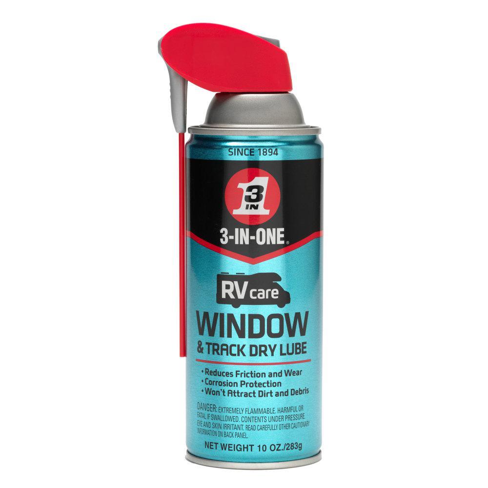 3 In 1 RV Window & Track Dry Lube Spray 10 Oz