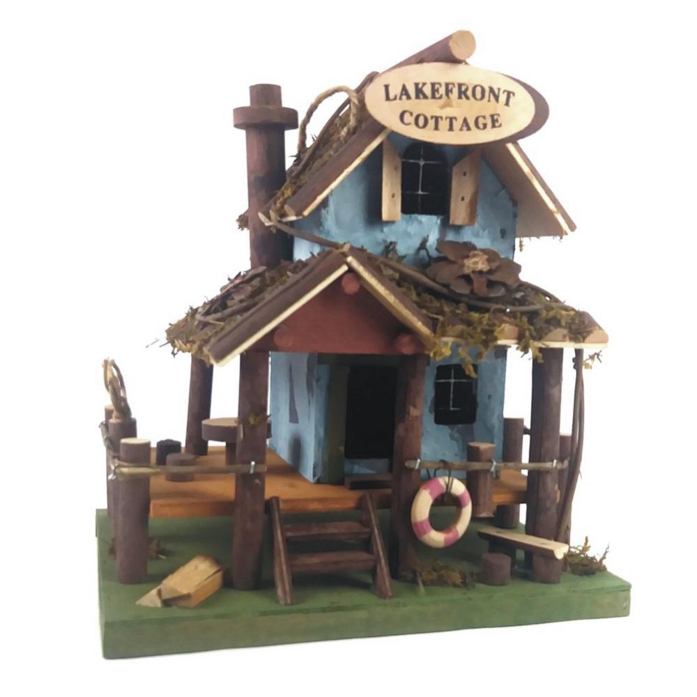 Lake Front Cottage Fairy Garden/Bird House