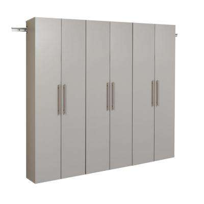 HangUps 72 in. H x 72 in. W Light Gray Wall Mounted Storage Cabinet Set C