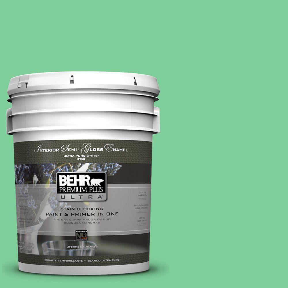 5-gal. #460B-4 Garden Glow Semi-Gloss Enamel Interior Paint