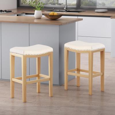 Avondale 26 in. Beige Backless Counter Stool (Set of 2)