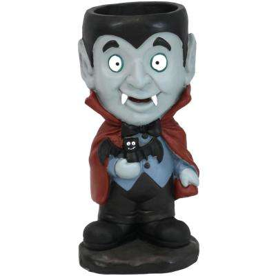 27 in. T Count Dracula Vampire Halloween Large Statue with Built-in Candy Bowl Dish