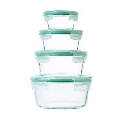 Good Grips 8-Piece Smart Seal Glass Round Container Set