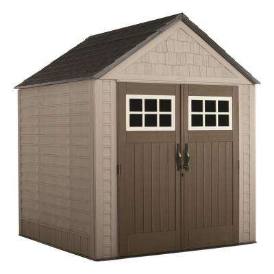 Big Max 7 ft. x 7 ft. Storage Shed with Shelving Unit