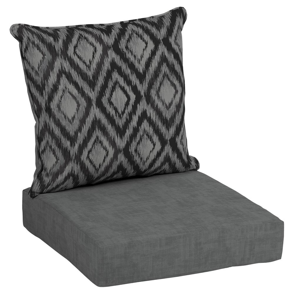 Charmant Hampton Bay Jackson Ikat Diamond Deep Seating Outdoor Lounge Chair Cushion