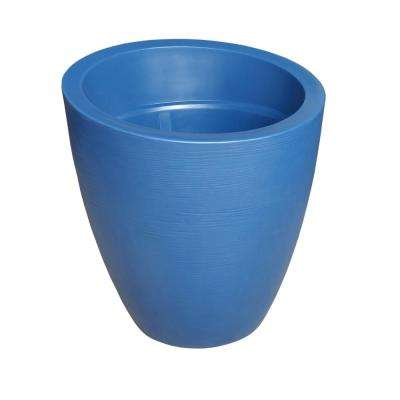 Large plastic planters Fibreglass Round Neptune Blue Plastic Planter The Home Depot Plastic Extra Large Plant Pots Planters The Home Depot