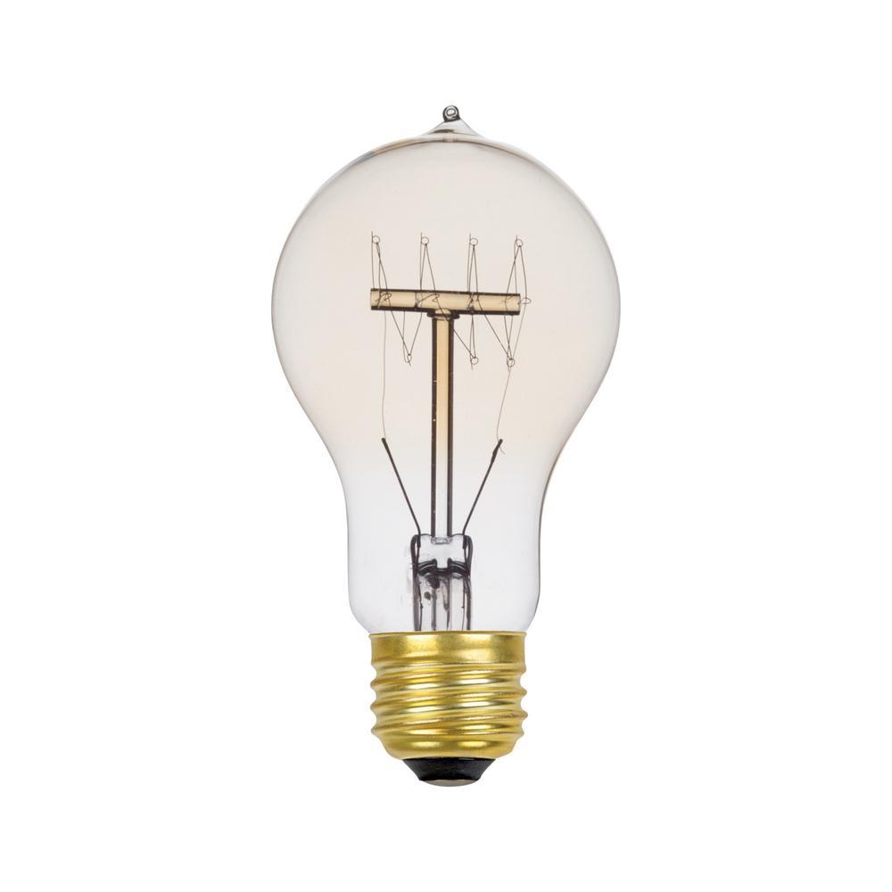 60-Watt Incandescent A19 Vintage Quad Loop Medium Base Light Bulb