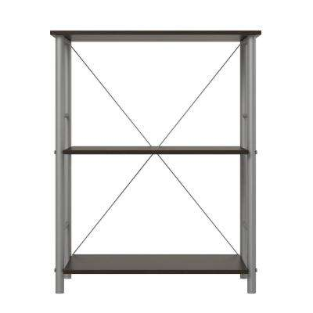Raleigh Espresso 3-Shelf Bookcase