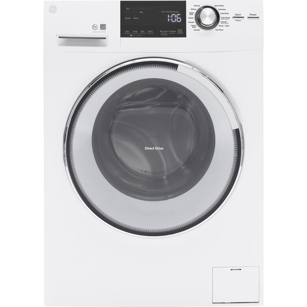 2.4 cu. ft. High-Efficiency Stackable White Front Loading Washing Machine with