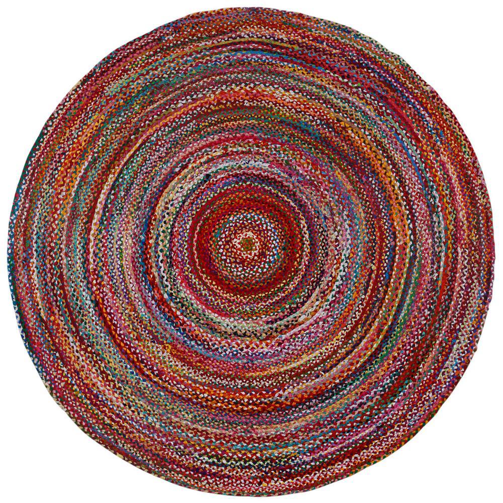 ae8f44a13a8a Brilliant Ribbon Multi- Colored Brilliant Ribbon 3 ft. x 3 ft. Round ...