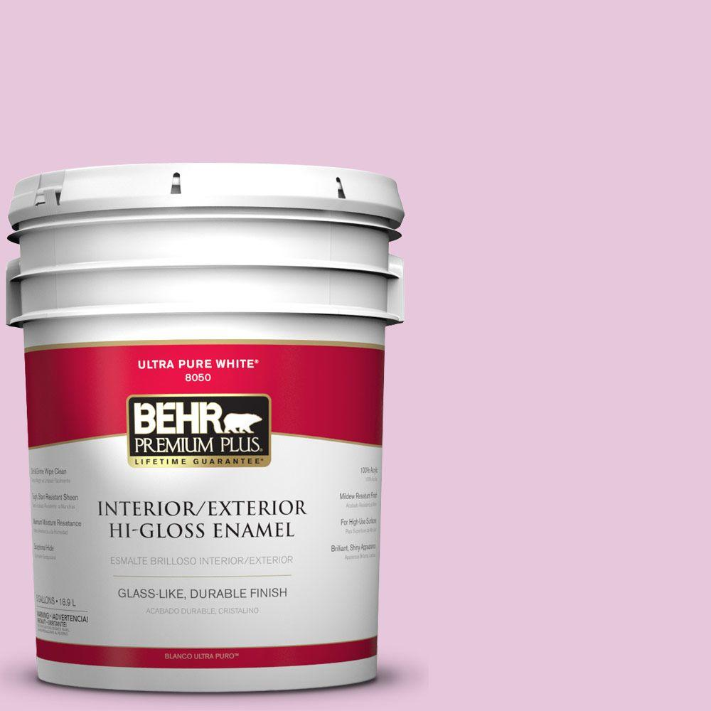 BEHR Premium Plus 5-gal. #M120-2 Kiss Good Night Hi-Gloss Enamel ...
